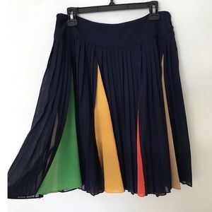 HD in Paris pleated color block skirt size 6